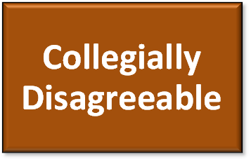 collegially disagreeable